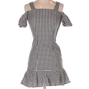 Gingham off shoulder summer dress